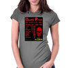 Power Death Print Womens Fitted T-Shirt