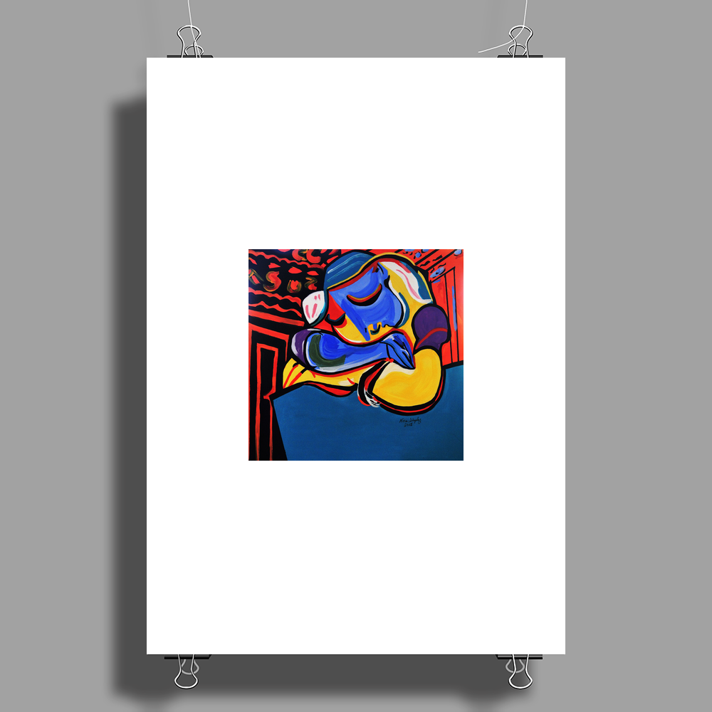 POWER NAP  PICASSO BY NORA Poster Print (Portrait)