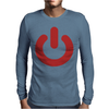 POWER NERD Mens Long Sleeve T-Shirt