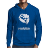 Power To The People Fist Revolution Mens Hoodie