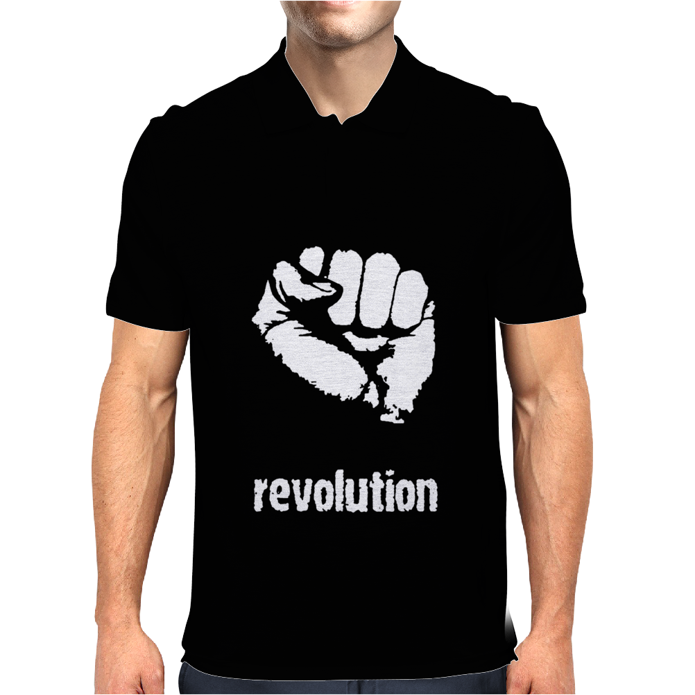 Power To The People Fist Revolution Mens Polo