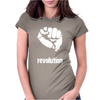 Power To The People Fist Revolution Womens Fitted T-Shirt