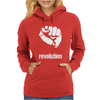 Power To The People Fist Revolution Womens Hoodie