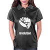 Power To The People Fist Revolution Womens Polo