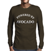 POWERED BY AVOCADO Mens Long Sleeve T-Shirt