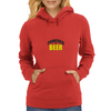 Powered by Beer Womens Hoodie