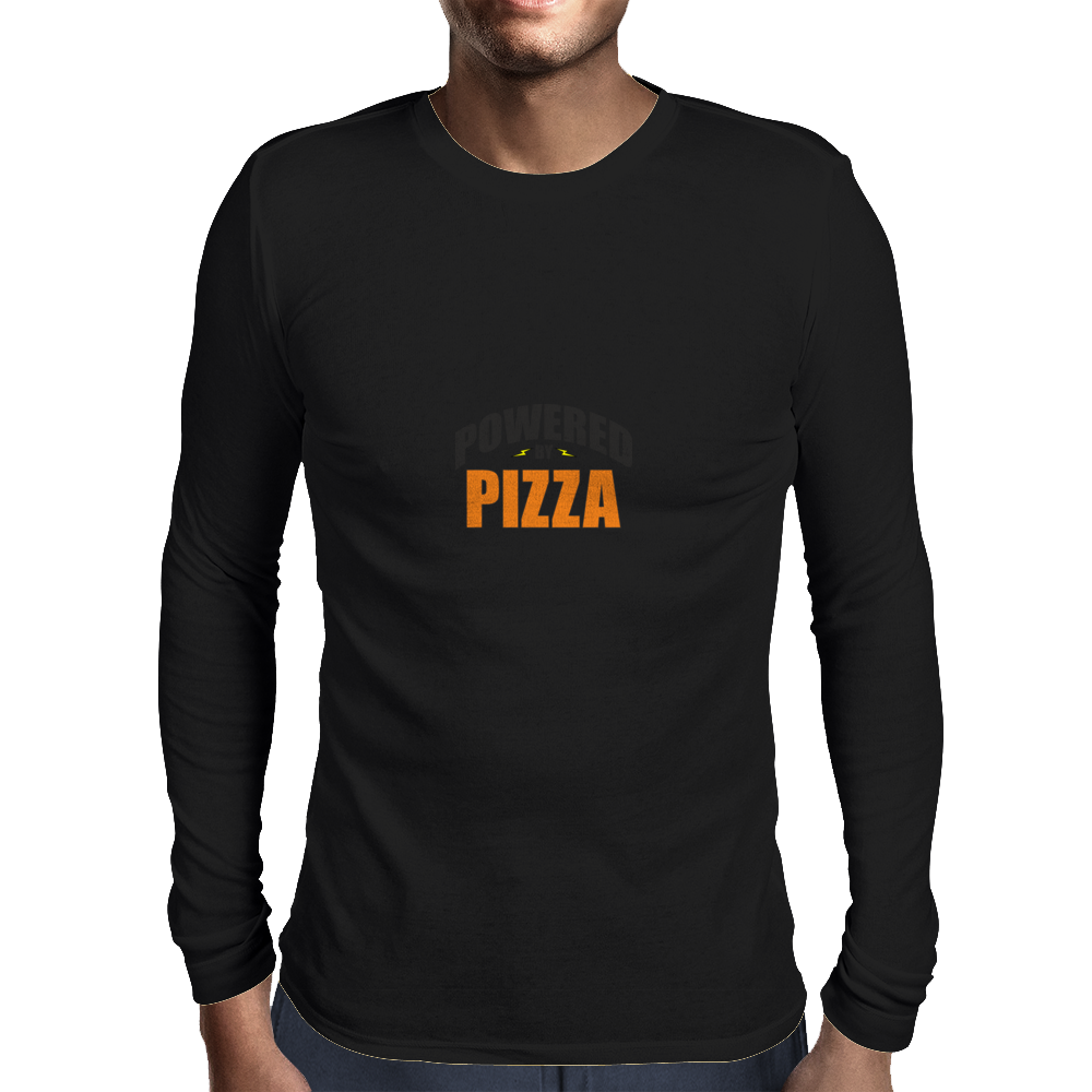 Powered by Pizza Mens Long Sleeve T-Shirt