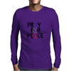 Pray for Peace Mens Long Sleeve T-Shirt