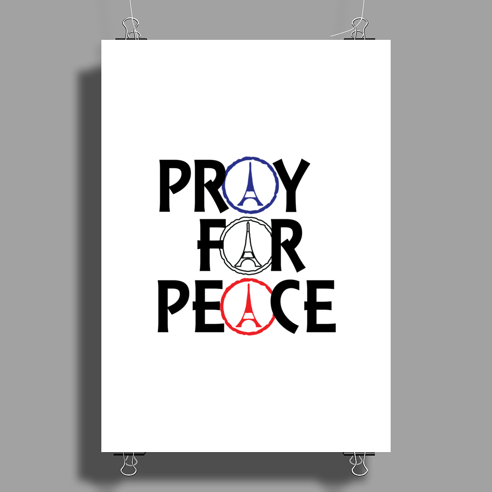 Pray for Peace Poster Print (Portrait)