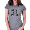 Pray for Peace Womens Fitted T-Shirt