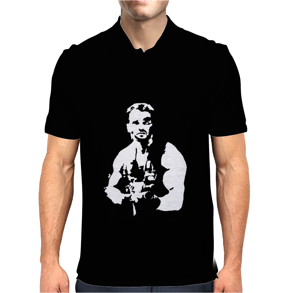 Predator Arnie Cool Retro Cult Movie Mens Polo