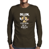 Predator Movie Dillon Licensed Adult Mens Long Sleeve T-Shirt