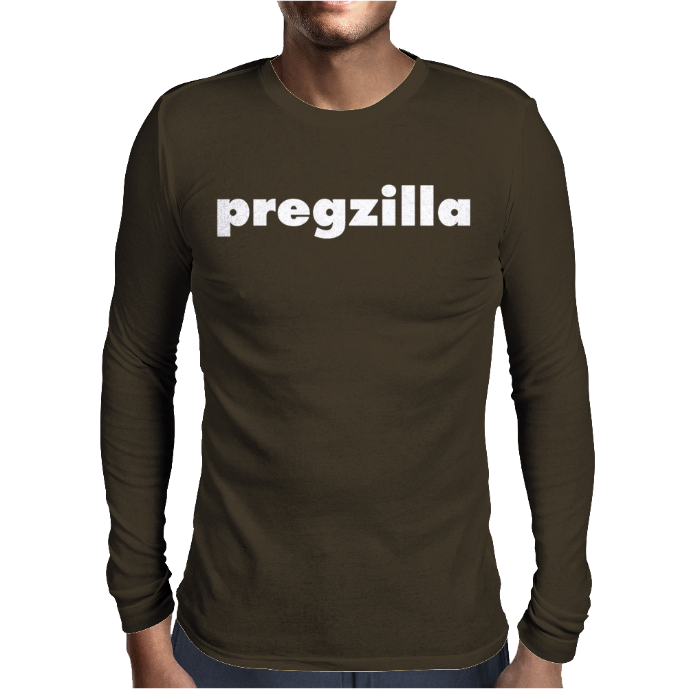 Pregzilla Mens Long Sleeve T-Shirt