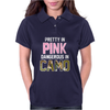 Pretty in Pink Dangerous in Camo Funny Womens Polo
