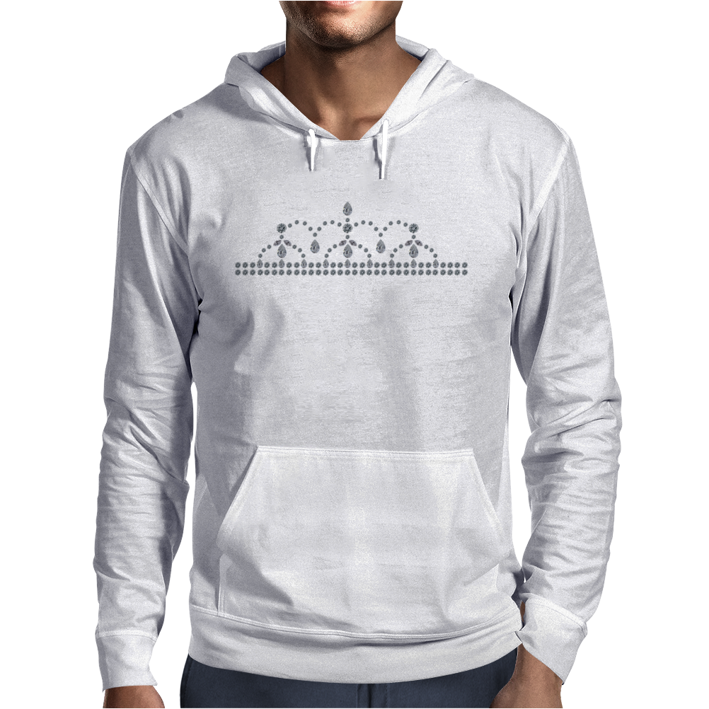 Princess Diamond Tiara Mens Hoodie