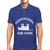 PRO COW TIPPER TIPPING FUNNY Mens Polo