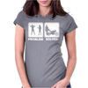 Problem Solve Biker Womens Fitted T-Shirt