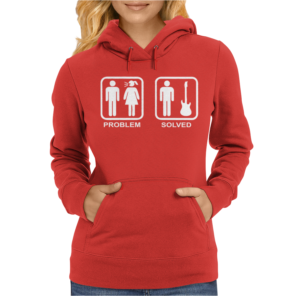 Problem Solved Guitar Womens Hoodie