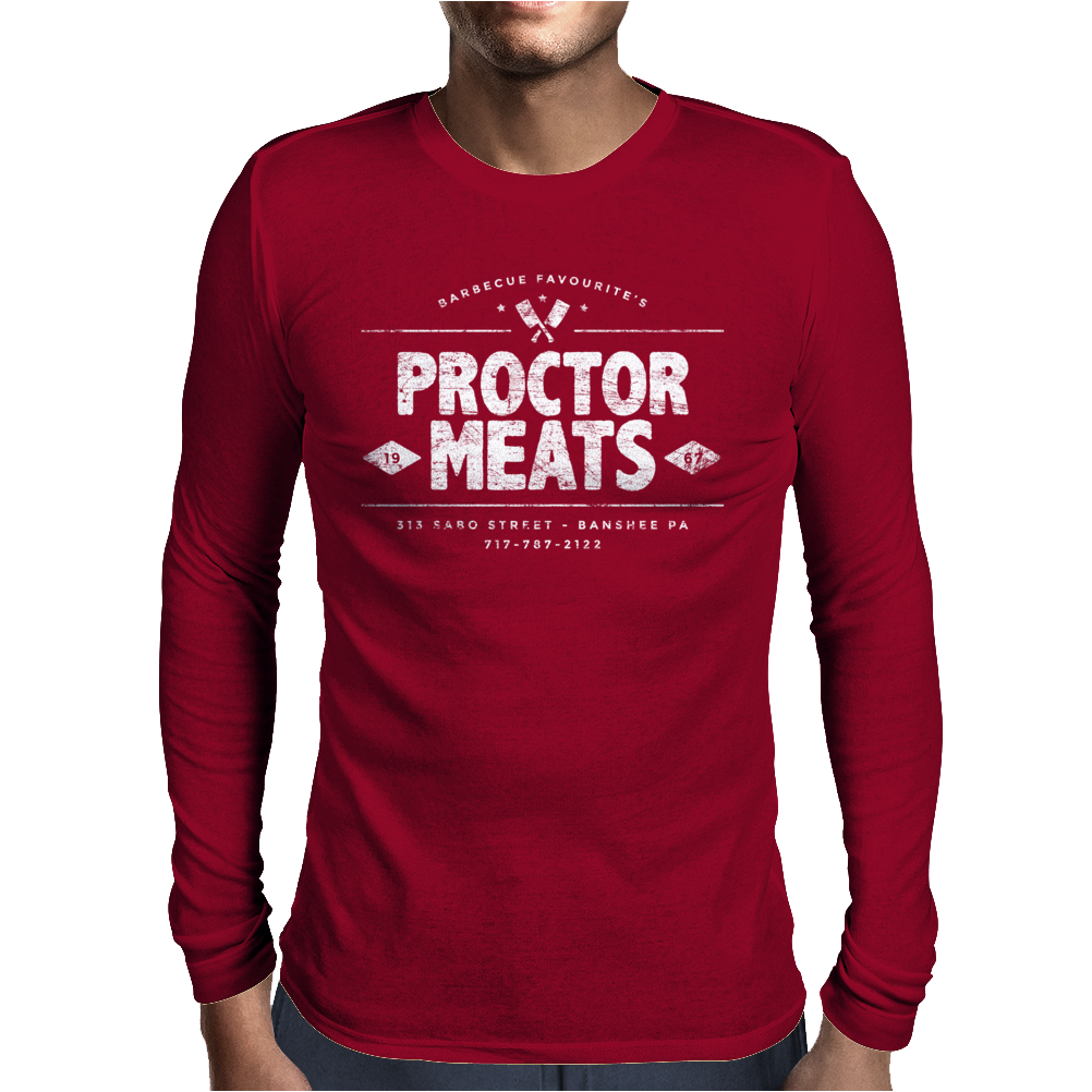 Proctor Meats (aged look) Mens Long Sleeve T-Shirt