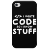 Programers know stuff - wht Phone Case