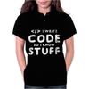 Programers know stuff - wht Womens Polo