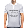 Programmer an Organism that turns caffeine and pizza into software Mens Polo