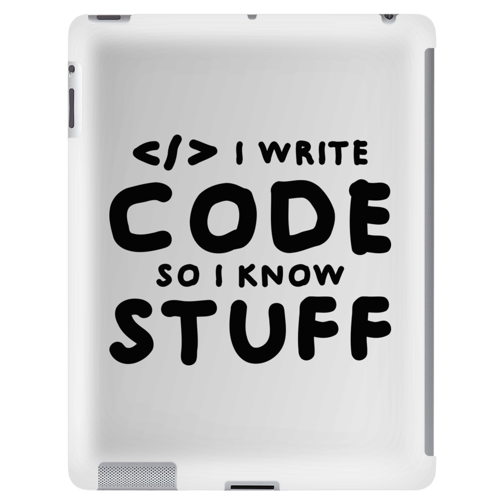 Programmers know stuff - blk Tablet