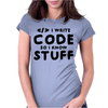 Programmers know stuff - blk Womens Fitted T-Shirt