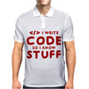 Programmers know stuff - red Mens Polo