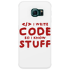 Programmers know stuff - red Phone Case