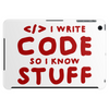 Programmers know stuff - red Tablet