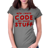 Programmers know stuff - red Womens Fitted T-Shirt