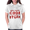 Programmers know stuff - red Womens Polo