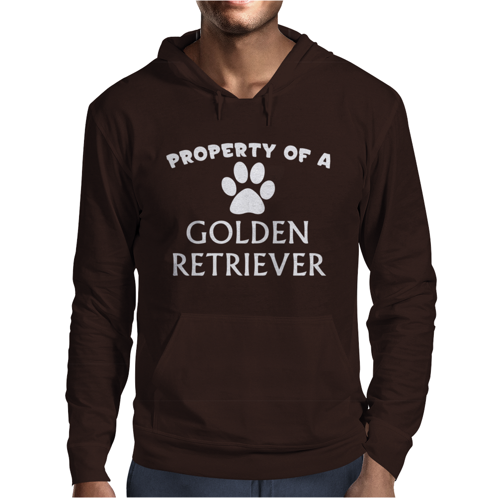 Property of a Golden Retriever Mens Hoodie