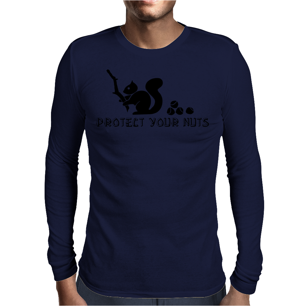 Protect your nuts Mens Long Sleeve T-Shirt