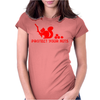 Protect your nuts red Womens Fitted T-Shirt