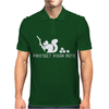 Protect your nuts white Mens Polo
