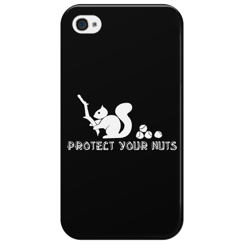 Protect your nuts white Phone Case