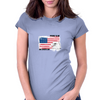 Proud to be american, America love, Independence Day Womens Fitted T-Shirt