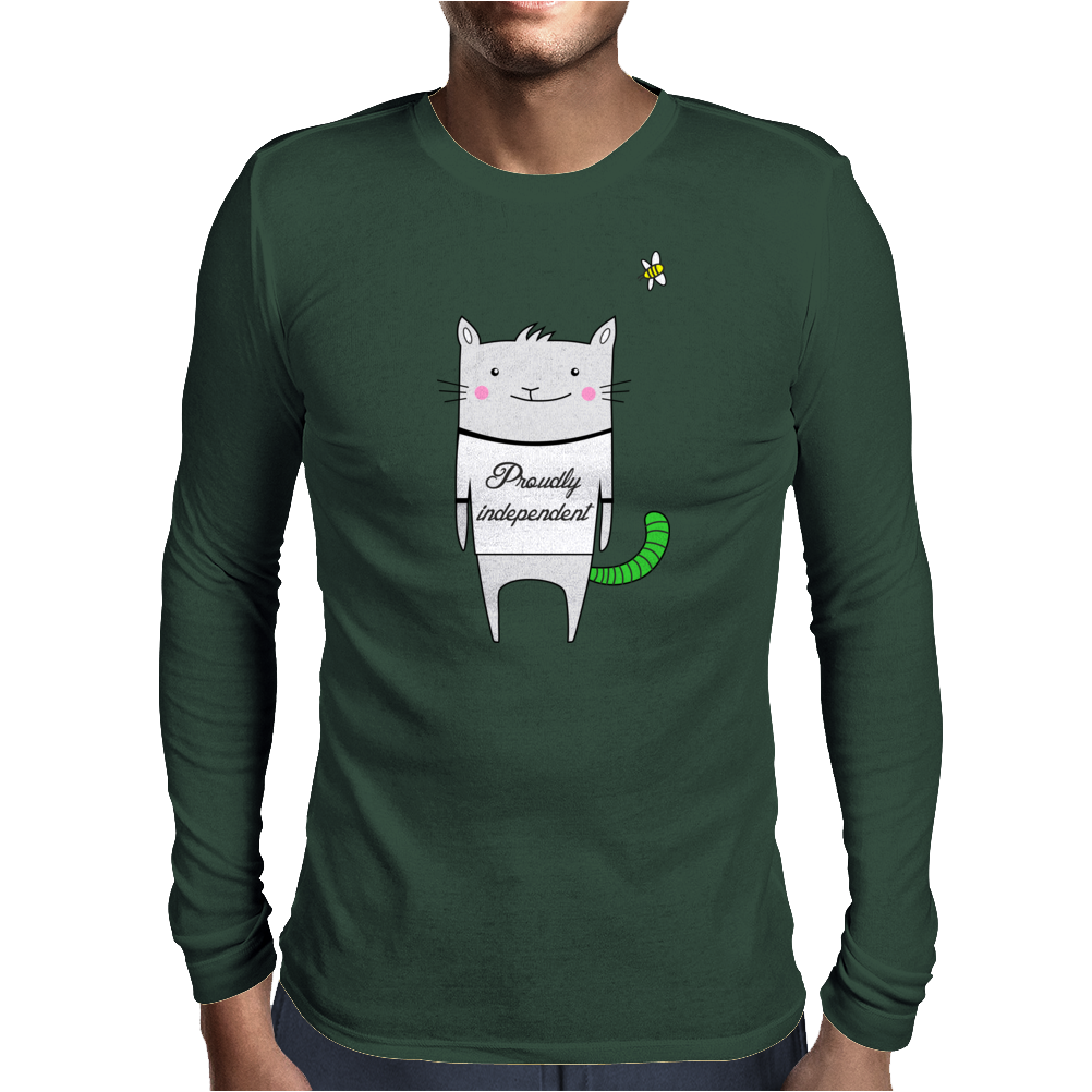 PROUDLY INDEPENDENT Mens Long Sleeve T-Shirt