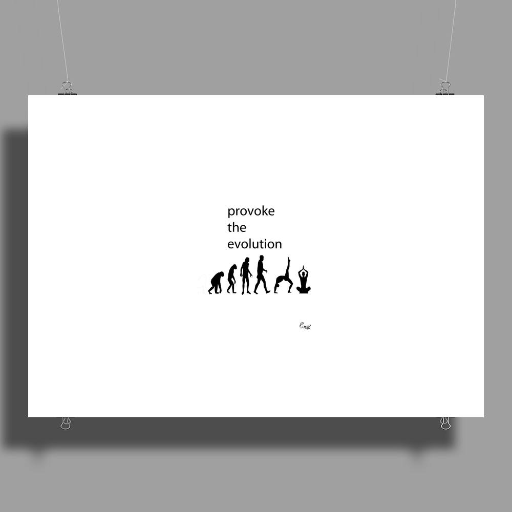 PROVOKE THE EVOLUTION Poster Print (Landscape)