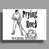 Prying Rock Illustration Poster Print (Landscape)