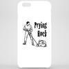 Prying rock line illustration, how to move boulder Phone Case