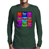 Psychedelic Butterflies Mosaic Mens Long Sleeve T-Shirt