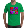 Psychedelic Butterflies Mosaic Mens T-Shirt