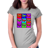 Psychedelic Butterflies Mosaic Womens Fitted T-Shirt