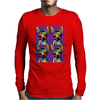 Psychedelic Chihuahua Dog Mens Long Sleeve T-Shirt
