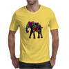 Psychedelic Elephant Mens T-Shirt