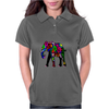 Psychedelic Elephant Womens Polo
