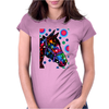 Psychedelic Horse Equine Riding Womens Fitted T-Shirt